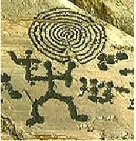 Petroglyphe: Schamane und Reise für die Seele