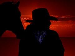 Native und Pferd
