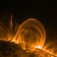 Bewegungung Sonneneruption