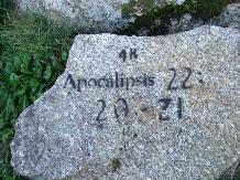 Petroglyphe auf dem Jakobsweg