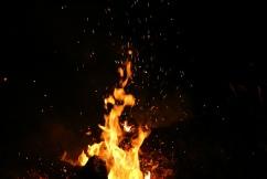 Feuer der Schwitzhütte