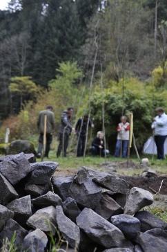 Bau der Schwitzhütte
