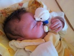 Eine Säugling im Schlaf