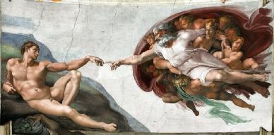 Die Erschaffung des Menschen als Symbol für Initiation